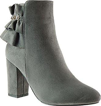 Angkorly Damen Schuhe Stiefeletten - Reitstiefel - Kavalier - Plateauschuhe Blockabsatz High Heel 9 cm - Schwarz LS0266 T 39