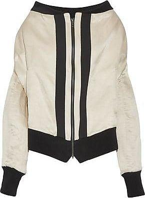 Ann Demeulemeester Woman Printed Striped Linen-blend Vest Black Size 34 Ann Demeulemeester