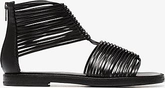 Black 20 multi strap leather sandals Ann Demeulemeester