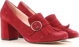 Pumps & High Heels for Women On Sale, Carmine Red, Suede leather, 2017, 7.5 Anna F.