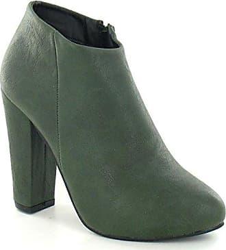 Anne Michelle Damen Ankle Boots mit Absatz (38 EU) (Olive)