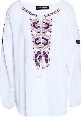 Antik Batik Woman Mimi Embellished Crepe De Chine Top White Size 42 Antik Batik