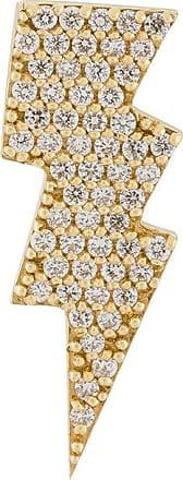 Anton Heunis gold and diamond lightning bolt earring - Metallic