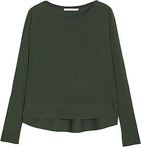 Antonio Berardi Woman Merino Wool And Silk-blend Knitted Top Leaf Green Size 40 Antonio Berardi