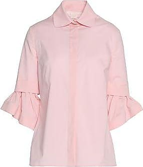 Antonio Berardi Woman Pleated Cotton-blend Poplin Shirt Pastel Pink Size 40 Antonio Berardi