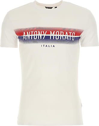 Camiseta de Hombre, Blanco, Algodon, 2017, L M S XL XXL Antony Morato