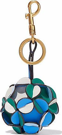Anya Hindmarch Anya Hindmarch Woman Trigger Vertex Two-tone Leather Keychain Yellow Size
