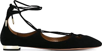 Ballet Flats Ballerina Shoes for Women On Sale, Harlow, Black, Suede leather, 2017, 2.5 4 4.5 5.5 6 7 7.5 Aquazzura