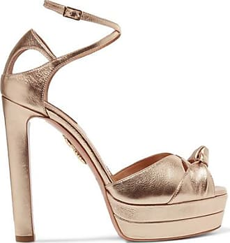Sandals for Women On Sale, Azalea Pink, Suede leather, 2017, 5.5 6.5 7 8.5 Aquazzura