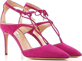 Sandals for Women On Sale, Dark Chilli, Suede leather, 2017, 3.5 4.5 5.5 6 6.5 7 7.5 Aquazzura