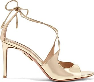 Sandals for Women On Sale, Gold, Leather, 2017, 3.5 4.5 6.5 Aquazzura