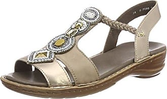 ara Hawaii, Sandales Bout Ouvert Femme - Multicolore - Mehrfarbig (Gun,Weiss 05), 43