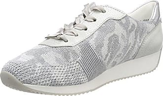 Ara Lissabon, Zapatillas para Mujer, Plateado (Camu-Silber,Bianco/Silber 39), 42.5 EU