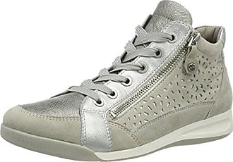 ROM-STF, Sneaker a Collo Alto Donna, Nero (Schwarz,Bronce 67), 38.5 EU Ara