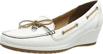 Campina - mocasines de cuero mujer, color blanco, talla 40.5 Sioux