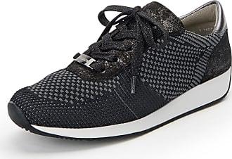 ara Damen Lissabon-ST-Fusion4 Sneaker Schwarz; Dunkel Größe 38 Schwarz (Schwarz)