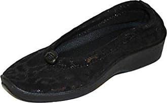 Arcopedico, Light 1001, Pantolette, Baumwolle, Schwarz, schwarz - schwarz - Größe: 41 EU