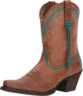 Ariat Women's Round up Aztec Western Boot, Desert Sand, 5.5 B US