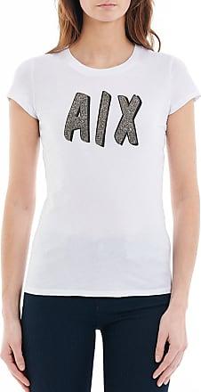 T-shirt avec logo et texte en majuscules - Blanc - BlancArmani
