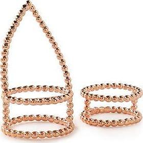 Arme De Lamour Woman Doll Stripe Silver Ring Rose Gold Size 7 Arme De L'Amour