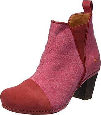 Oslo - Botas de Caña Baja con Forro Cálido y Botines para Mujer, Color Rojo (Amarante), Talla 36 EU Art