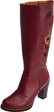 Art Gran Via, Bottes Classiques Femme, Rouge (Wax Rioja), 37 EU