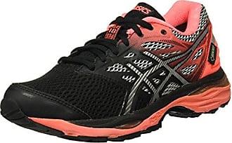 Gel-Cumulus 18 G-TX, Zapatillas de Running para Mujer, Varios Colores (Black/Silver/Flash Coral), 36 EU Asics