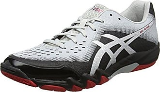 Asics Gel-Blade 5, Chaussures de Squash Homme - Blanc (White/Black/Cherry Tomato 0190) - 46.5 EU (11 UK)