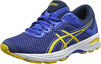 Asics Kinder Laufschuhe Stormer GS C724N Imperial/Safety Yellow/Black 37