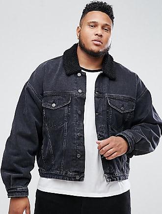 Schwarze oversize jeansjacke