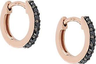Angara Channel Set Enhanced Black Diamond Half Hoop Earrings(2mm)