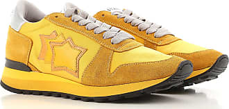 Sneakers for Women On Sale, Yellow, Suede leather, 2017, 2.5 3.5 4.5 5.5 6.5 7.5 Atlantic Stars