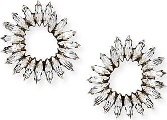 Auden Vivian Clear Crystal Hoop Earrings