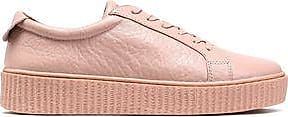 Australia Luxe Collective Woman Textured-leather Sneakers Pastel Pink Size 5 Australia Luxe