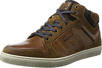 Mens Kensington Leather Hi-Top Trainers Australian Footware