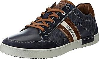 Mens Lombardo Leather Trainers, Grau (Grey-Blue-Tan) Australian Footware