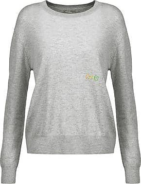 Autumn Cashmere Woman Marled Cashmere And Silk-blend Sweater Dark Gray Size XS Autumn Cashmere