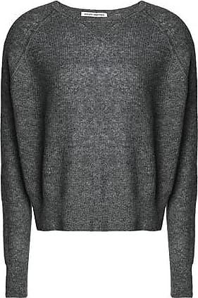 Autumn Cashmere Woman Marled Cashmere And Silk-blend Sweater Dark Gray Size XS Autumn Cashmere