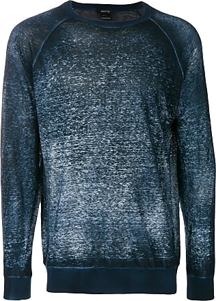 Avant Toi boat neck faded jumper - Azul