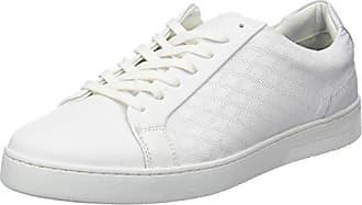 Plizy, Baskets Basses Homme, Blanc (Blanc+Argent), 44 EUAzzaro