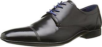 Oussa - Zapatos con Cordones Hombre, Negro (Negro), 45 Azzaro