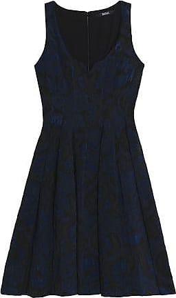 Badgley Mischka Woman Lamé Jacquard Mini Dress Black Size 16 Badgley Mischka