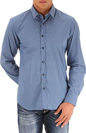 Shirt for Men On Sale, Blue, Cotton, 2017, 15.75 Bagutta