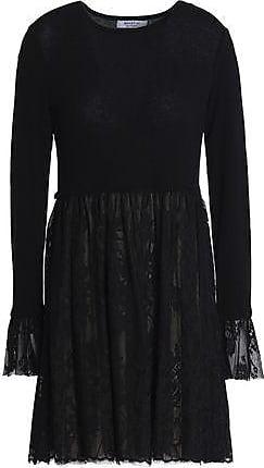 Bailey 44 Woman Wrap-effect Stretch-knit And Polka-dot Jersey Midi Dress Black Size S Bailey 44