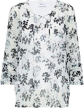 Bailey 44 Woman Cherry Blossom Lace-up Floral-print Chiffon Blouse Red Size M Bailey 44