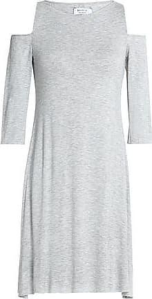 Bailey 44 Woman Cold-shoulder Stretch-jersey Mini Dress Light Gray Size L Bailey 44