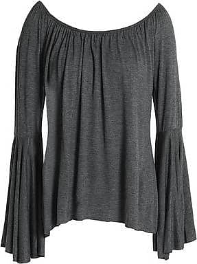 Bailey 44 Woman Fetir Off-the-shoulder Striped Cotton-gauze Top Gray Size XS Bailey 44