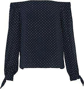 Bailey 44 Woman Off-the-shoulder Polka-dot Crepe De Chine Top Black Size XS Bailey 44