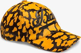 Giraffe Print Baseball Cap Yellow, Mens printed calf hair baseball cap in multi-kodak Bally