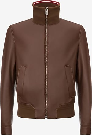 Nappa Leather Puffer Jacket Brown, Mens nappa lamb leather puffer jacket in terra Bally
